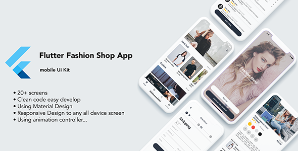 Flutter Fashion Shop App – UI KIT