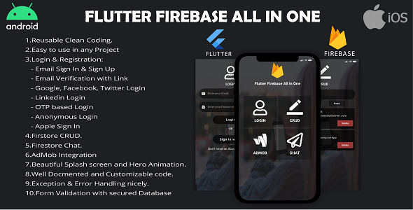 Flutter Firebase All In One Kit
