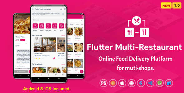 Flutter Multi-Restaurant (FoodPanda, GrabFood – Mobile Food Delivery Platform For iOS & Android) 1.0