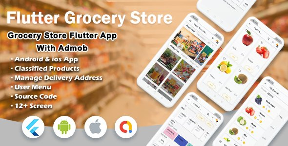 Flutter Super Grocery UI KIT