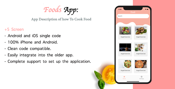 Foods |  Multipurpose React native