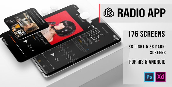 Fortunato – Radio UI Kit for Mobile App