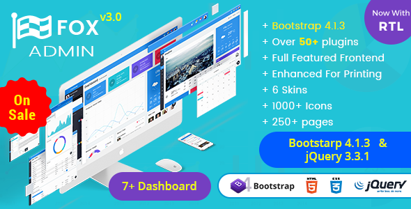 Fox – Multipurpose Bootstrap 4 Admin Dashboard Template UI Framework