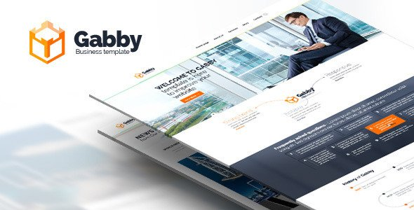 Gabby – PSD website. Desktop and Mobile version
