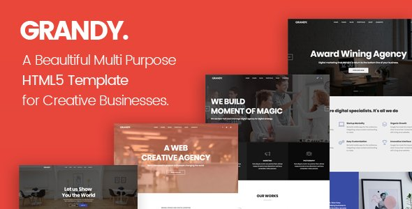 Grandy – Creative Multi Purpose Big HTML5 Template