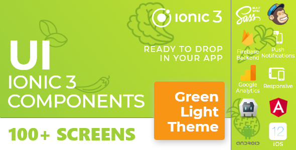 Green Light – Ionic 3 / Angular 6 UI Theme / Template App – Multipurpose Starter App