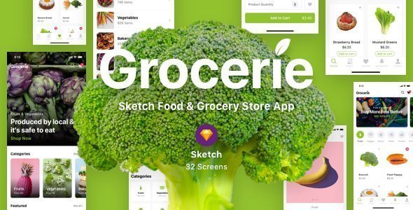 Grocerie – Sketch Food & Grocery Store App