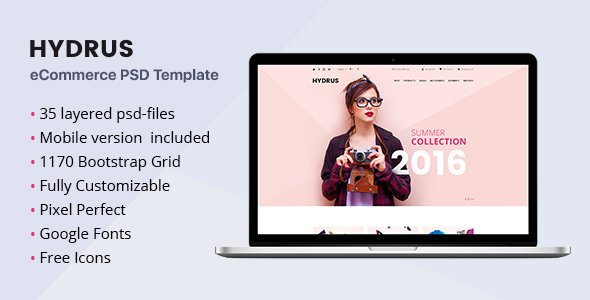 Hydrus – Fashion eCommerce PSD template
