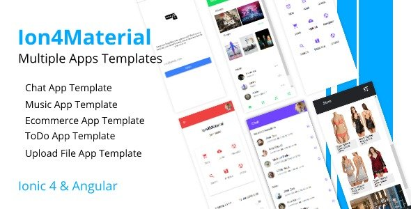 Ion4Material – Apps Templates