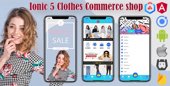 Ionic 5/Angular 8 Clothes Shop Commerce App