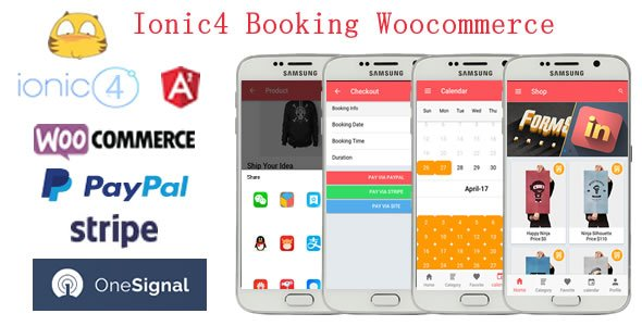 Ionic4 Integration with Woocommerce Booking App