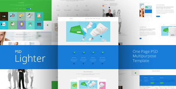 Lighter One Page Multipurpose PSD Template