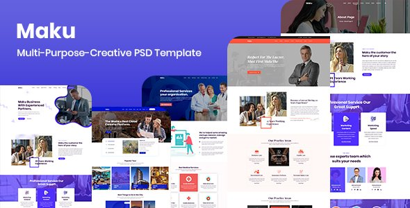 Maku – Multi-Purpose-Creative PSD Template