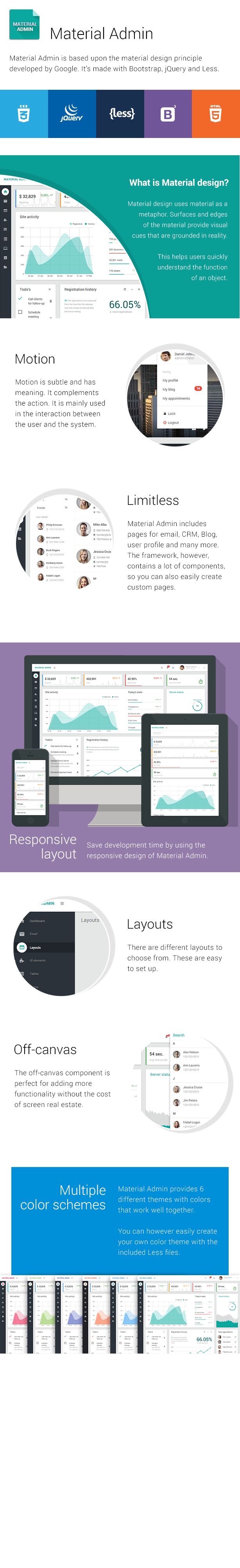 Material Admin - Bootstrap HTML5 App - 1