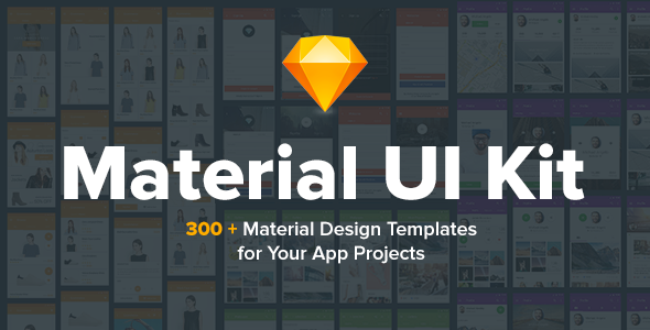 Material Design UI KIT – 300+ for Sketch