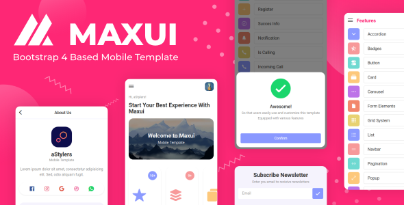 Maxui – Bootstrap 4 Based Mobile Template