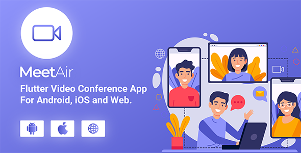MeetAir – iOS and Android Video Conference App for Live Class, Meeting, Webinar, Online Training