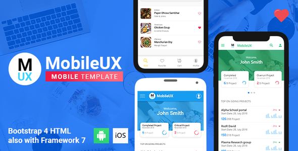 Mobileux | Multipurpose HTML Mobile App Template