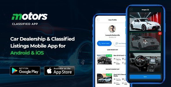 Motors – Car Dealership & Classified Listings Mobile App for Android & iOS