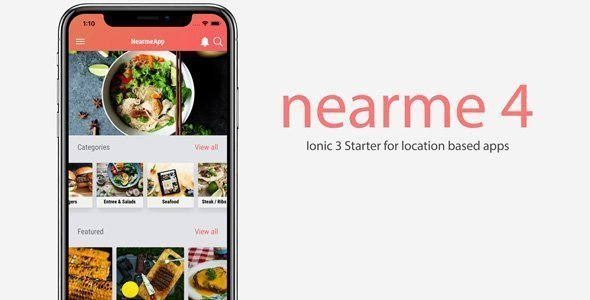 Nearme – Ionic 3 Starter for Location Based Apps