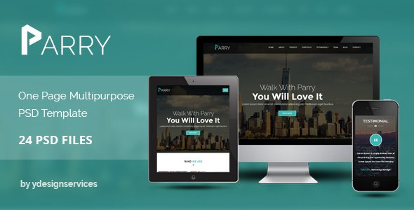 Parry – One Page Premium PSD Template