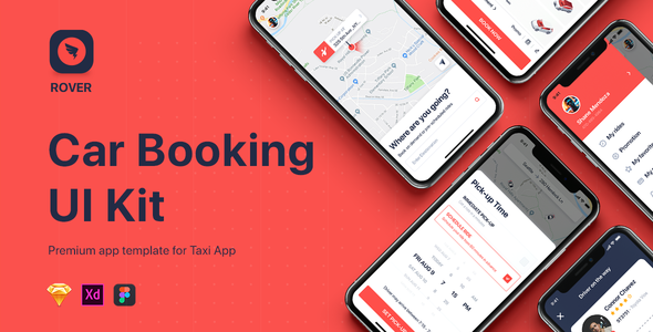 ROVER – Taxi UI Kit for Mobile App