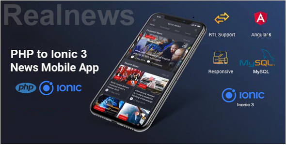 Real News – PHP To Ionic 3 Mobile App