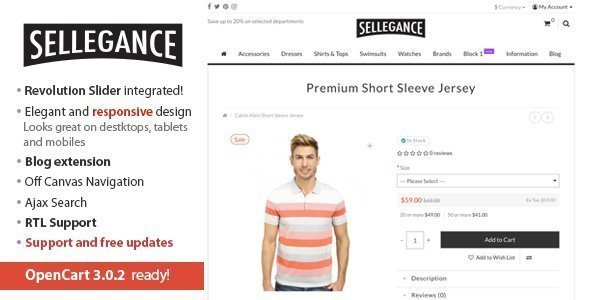 Sellegance – Responsive and Clean OpenCart Theme