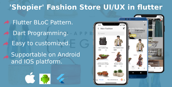 Shopier Multi-Vendor Flutter Complete mobile UI/UX