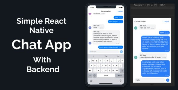 Simple React Native Chat App Based on Expo for iOS, Android and Web with Backend