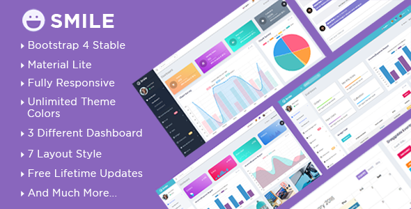 Smile – Bootstrap 4 Admin Dashboard Template + UI Kit