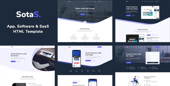 SotaS – App, Software & SaaS HTML Template