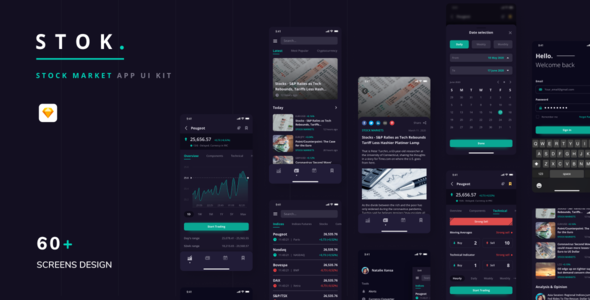 Stok – Stock Market App UI Kit