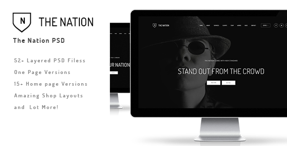 The Nation – Business and Creative PSD