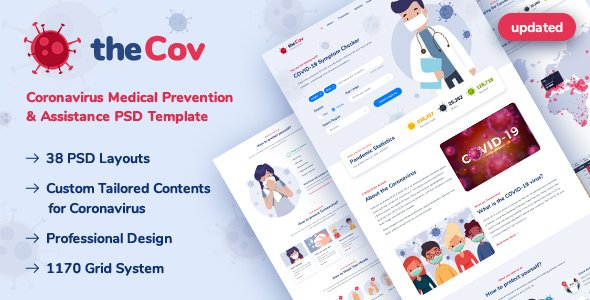 TheCov – Coronavirus Prevention & Assistance PSD Template