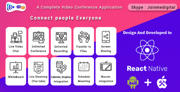 Video Conference Tool (Android + iOS ) – JoinMe