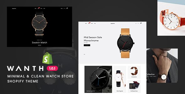 Wanth – Minimal & Clean Watch Store Shopify Theme