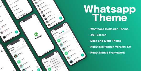 Whatsapp Redesign Theme – React Native