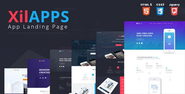 XILAPPS – HTML App Landing Page Template
