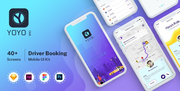 YOYO CAB – Driver Booking UI kit for Mobile App