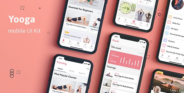 Yooga – Health and Fitness UI Kit for Sketch
