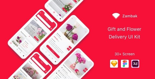 Zambak – Gift and Flower Delivery App UI Kit