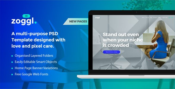 Zoggl – Multi-purpose Website PSD