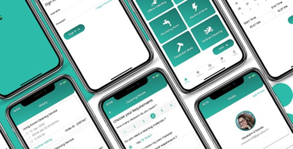 ionic 5 cleaning services app template