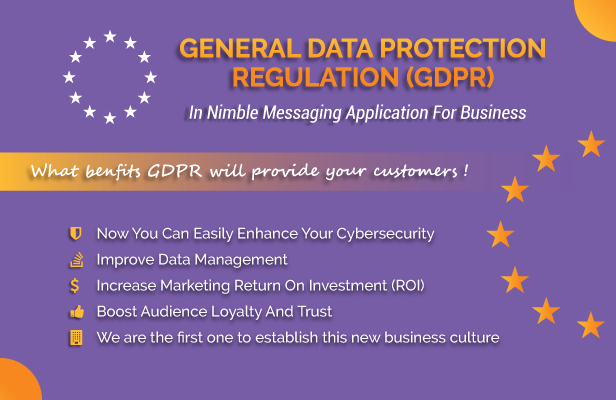 First Time Ever General Data Protection Regulation GDPR Notification Feature