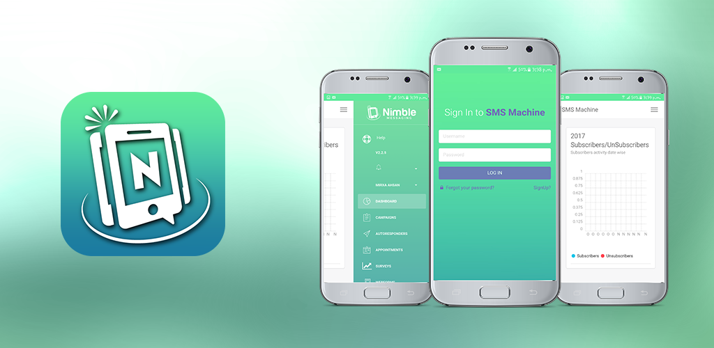 Cover Main Image of nimble messaging sms marketing application for business android version fully exclusive application