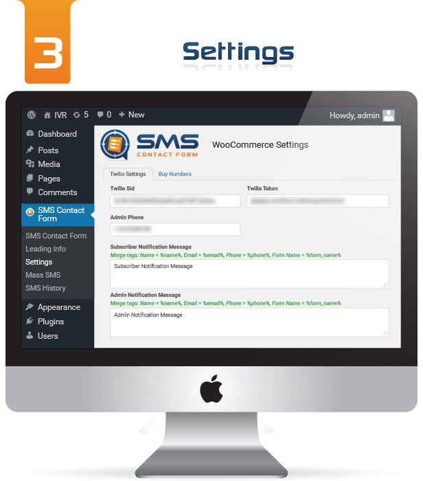WP SMS Contact Form Settings Image 3