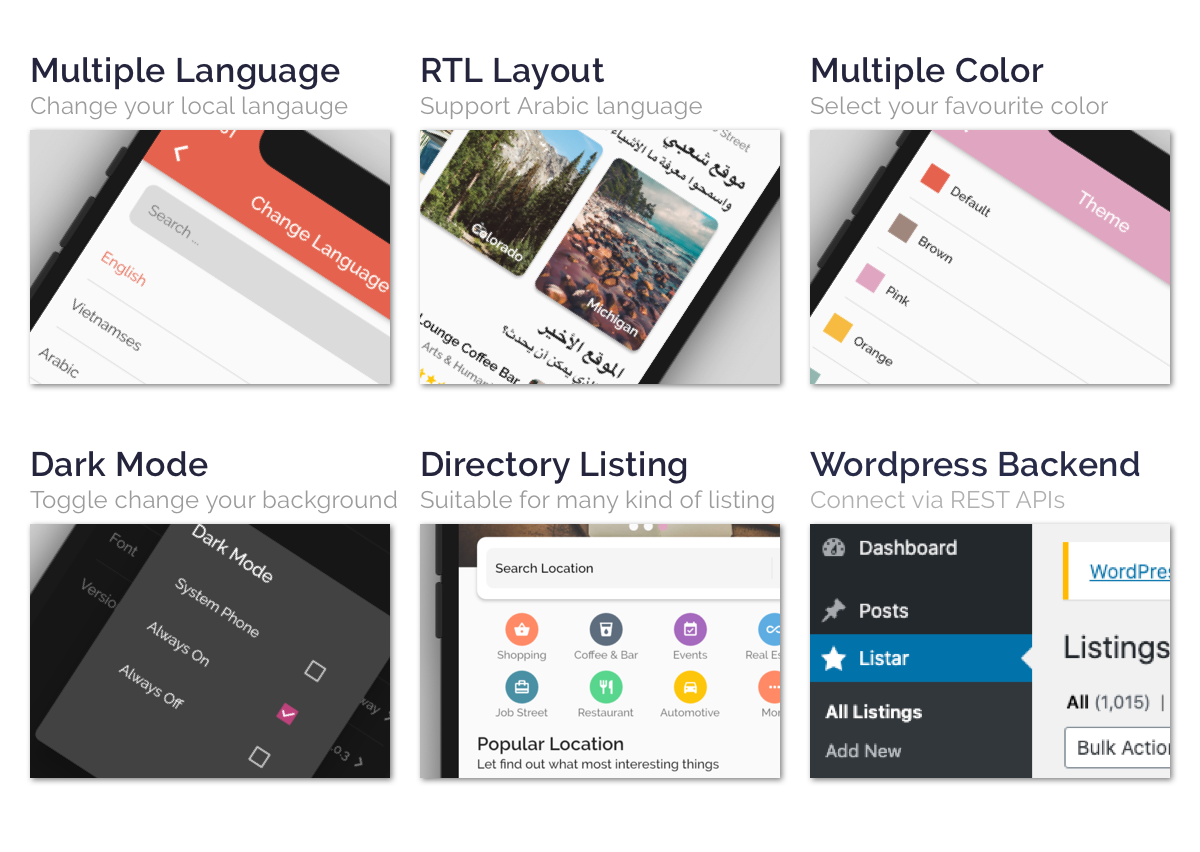 Listar Pro - mobile directory listing app for React Native & WordPress - 3