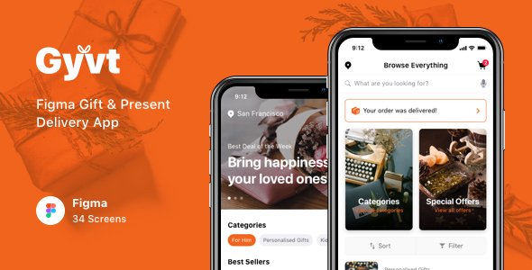 Gyvt – Figma Gift & Present Delivery App
