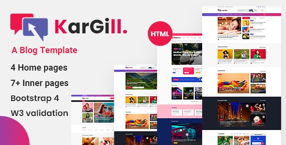Kargill – Blog, Magazine Html Template